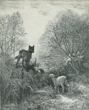 『寓話』より「狼と子羊」