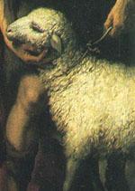 「羊飼いの礼拝」(部分)