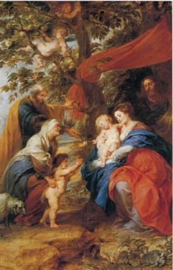 「リンゴ樹の下の聖家族」