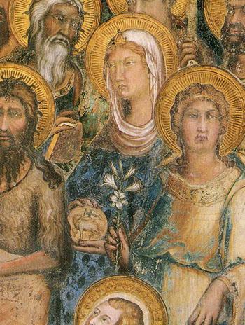 「荘厳の聖母」(部分)