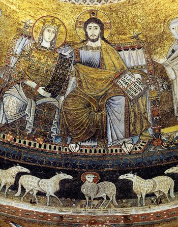 栄光のキリストと聖母