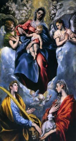 「聖アグネスと聖マルティナのいる聖母子」