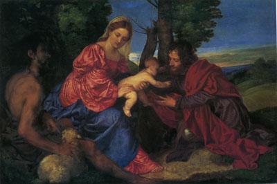 「聖母子と洗礼者ヨハネと寄進者」