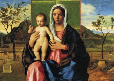 「聖母と祝福する幼な子キリスト」