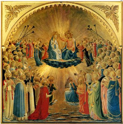 ウフィツィ美術館の「聖母戴冠」