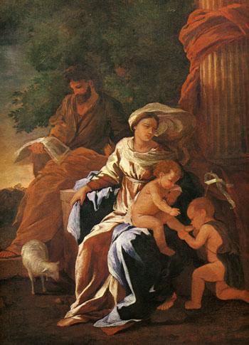 「聖家族、四人」