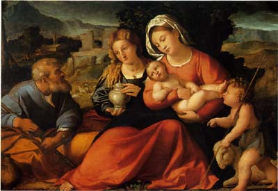 「聖家族と聖ヨハネ、聖女マグダラのマリア」