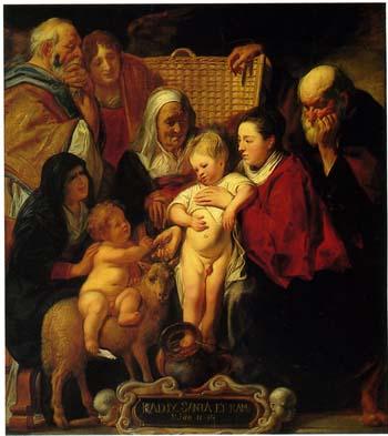 「聖アンナ、若い洗礼者ヨハネおよびその両親といる聖家族」