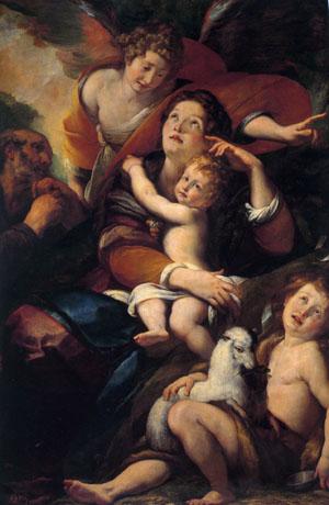 「聖家族、洗礼者ヨハネと天使」