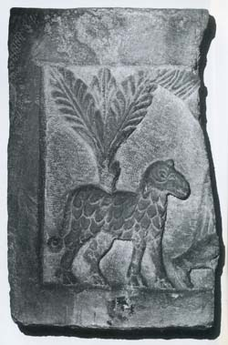 石版の「犠牲の羊」
