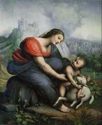 チェーザレ・ダ・セスト「聖母子と子羊」