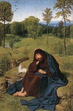 シント・ヤンス「荒野の洗礼者ヨハネ」