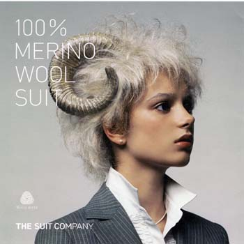 「100% MERINO WOOL SUIT」