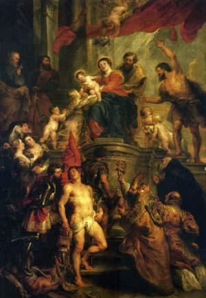 ルーベンス「聖母子と諸聖人」