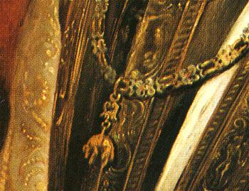 「アンブロジオ・スピノラの肖像」(部分)