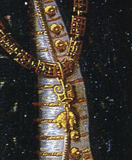 「アルベルト大公の肖像」(部分)