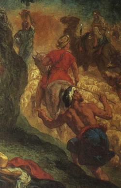 「ヤコブと天使の闘い」(部分)