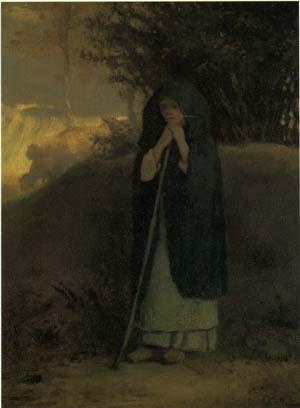 「杖に倚る羊飼いの女」