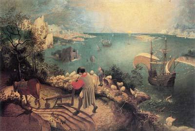 ブリューゲル「イカロスの墜落のある風景」