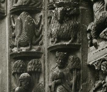 シャルトル大聖堂の牡羊座