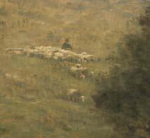 「羊を連れ帰る羊飼い」(部分)