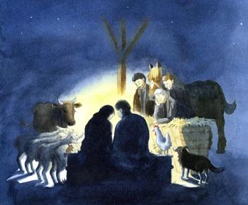 「馬小屋のクリスマス」