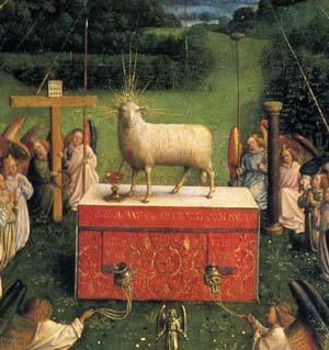 「神秘の仔羊」(部分)