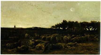 「夜明けの羊舎」