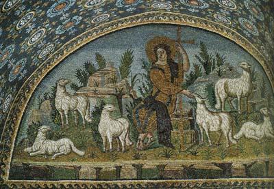 「善き羊飼い」モザイク