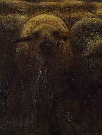 「夕暮れに羊を連れ帰る羊飼い」(部分)