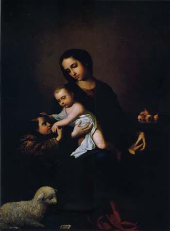 スルバラン 「幼児洗者聖ヨハネのいる聖母子像」